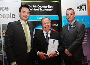 CSR Bradford Ventilation staff accepting the AIRAH award